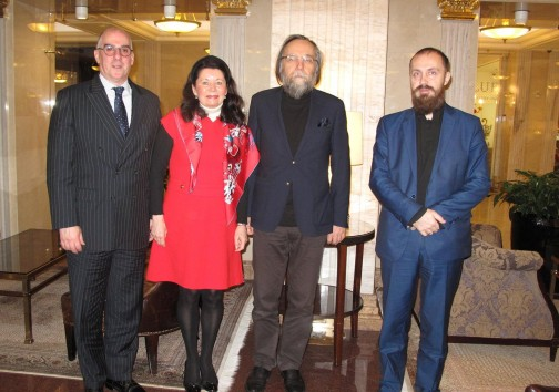 Meeting of HRH Prince Vladimir with Professor Aleksandr Dugin and Mr Leonid Savin, March, 2017.