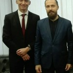 Meeting with Leonid Savin, January, 2018.
